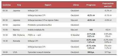 Dane makro na piątek 25.01.2013