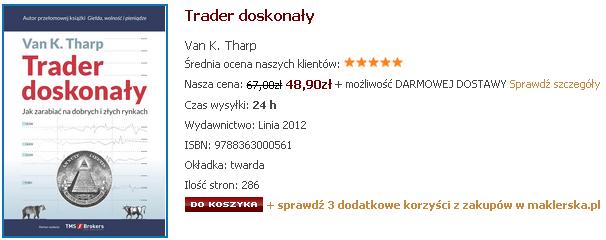 """Trader doskonały"" Van K. Tharp   Recenzja"