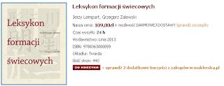 Leksykon formacji świecowych J. Lempart, G. Zalewski   recenzja