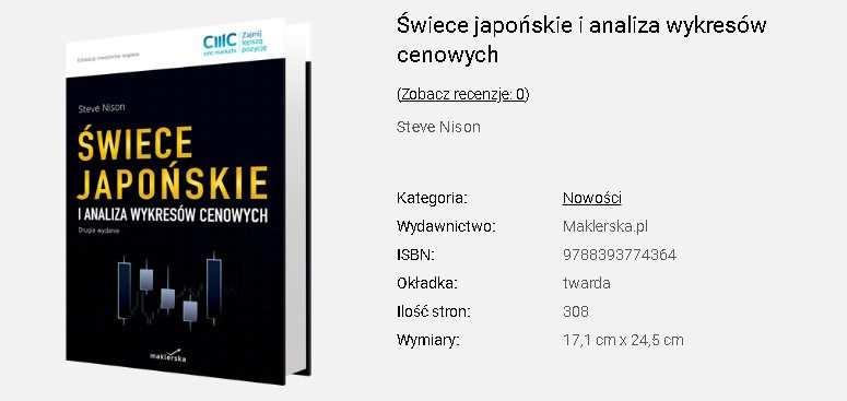 Świece japońskie i analiza wykresów cenowych   Steve Nison