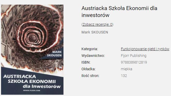 [RECENZJA] Austriacka Szkoła Ekonomii dla Inwestorów